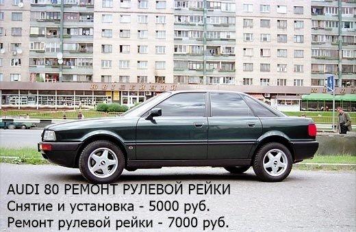 Ремонт рулевой рейки Audi 80
